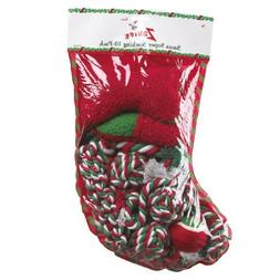 Zanies Santa Super Stocking Dog Toy, 10-Pack