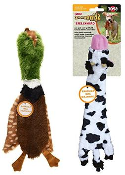Ethical Pets Skinneeez Crinklers 14-Inch Cow and 14-Inch Bir