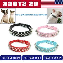 Small Dog Spiked Studded Rivets Dog Pet Faux PU Leather Coll