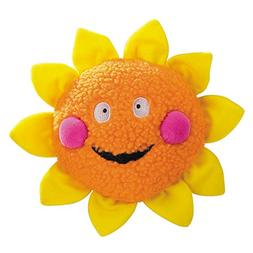 Zanies Smiling Sun Dog Toys, Orange Sun, 8""