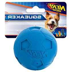 Nerf Dog Soccer Squeak Ball Dog Toy, Blue, Small
