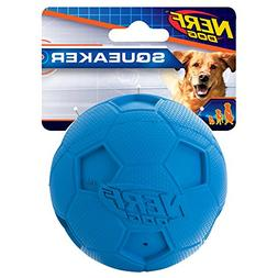 Nerf Dog Soccer Squeak Ball Dog Toy, Medium-color may vary