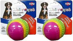 "Spot Sensory Rubber Sented Ball Dog Toy Size:3.25"" Pack of 2"