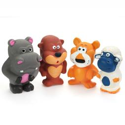 "Chiwava 4PCS 3.7"" Squeak Latex Dog Toy Funny Standing Animal"