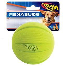 Nerf Dog Squeak Rubbber Ball Dog Toy, Medium/Large, Green