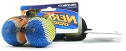 Nerf Dog 2in Squeak Tennis Ball 3-Pack - Blue/Green, Blue/Or