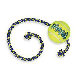 KONG SqueakAir Ball with Rope Medium