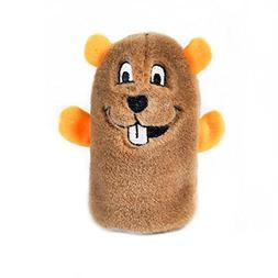 ZippyPaws Squeakie Buddie No Stuffing Plush Dog Toy - Beaver