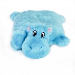 ZippyPaws Squeakie Pad No Stuffing Plush Dog Toy, Hippo
