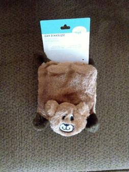 ZippyPaws Squeakie Pad No Stuffing Plush Dog Toy, Bear