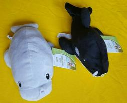 Squeaky Plush Dog Toys  Whale & Manatee Approx Measures 9 In