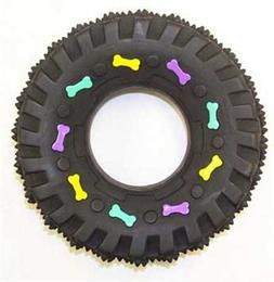 Ethical Squeaky Vinyl Tire Dog Toy, 3-1/2-Inch