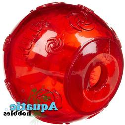 Kong Squeezz Ball For Dog Puppy Squeaks Toy Fetch Choose Siz