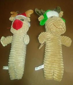 Leaps and Bounds Stuffed Squeaky Christmas Reindeer Dog Cudd