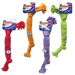 Ethical Pets Super Squeak Rope Dog Toy with 3-Squeaker, 20-I