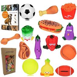 Savena Super Squeaky Dog Toy Pack -New Upgrade Made by Non-T