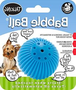 Talking Babble Ball Interactive Dog Toy Wisecracks and Makes