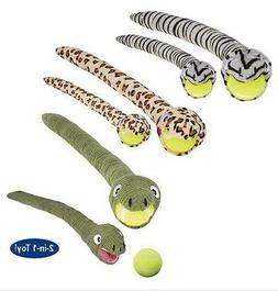 Grriggles Tennis Ball Crawlers Dog Toys Plush Snake Pet Toy