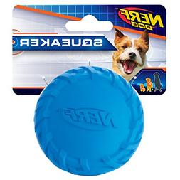 Nerf Dog Tire Squeak Ball Dog Toy, Blue, Small