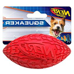 Nerf Dog 4in Tire Squeak Football - Red, Dog Toy
