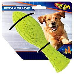 Nerf Dog Tire Squeaker Aero Dog Toy, Medium, Green