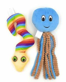 Zip Dog Toys Squeaky Puppy Chew Small Dog Toy Set 1 Octopus