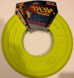 Nerf Dog TPR large Flyer pet frisbee toy disc 10-Inch  Neon