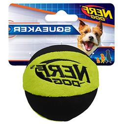 Nerf Dog Trackshot Crunch and Squeak Ball Dog Toy, Small/Med