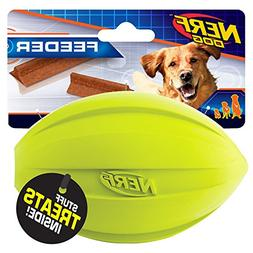 Nerf Dog Medium to Large Treat Feeder Football  Green and Bl