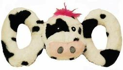 Jolly Pets Jolly Tug-a-Mal Cow Tug/Squeak Toy, Large