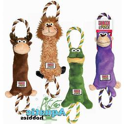 Kong Tugger Knots Medium / Large Squeak Tug Play Dog Puppy T