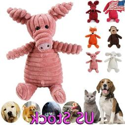 US Pet Chew Toy Plush Dog Squeaky for Aggressive Chewers Dur