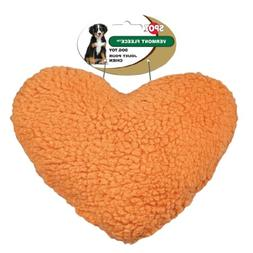 Ethical Pet Vermont Fleece Dog Toy, 8-Inch, Heart, Assorted