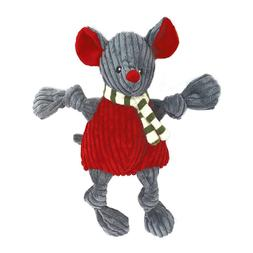 "HUGGLEHOUNDS WEE 6"" HOLIDAY MOUSE KNOTTIES PLUSH DOG TOY. FR"