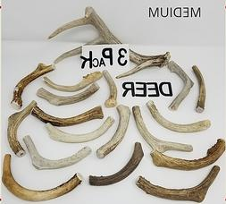 Whole Real Shed DEER ANTLER Dog Bone Chews Treat Toy Small M