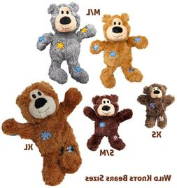 Kong Wild Knots Bear Dog Toy, Color Varies