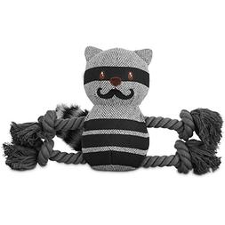 Leaps & Bounds Wildlife Plush and Rope Raccoon Dog Toy, Medi