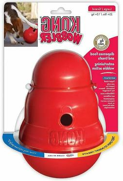wobbler food and treat dispenser dog toy
