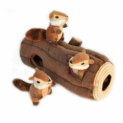 ZippyPaws Woodland Friends Burrow, Interactive Squeaky Hide